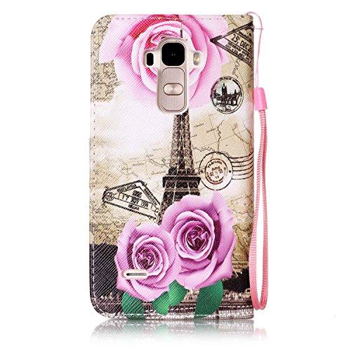 PU Silikon Schutzhülle Handyhülle Painted pc case cover hülle Handy-Fall-Haut Shell Abdeckungen für LG G4 Stylus/LS770(5.7 zoll) +Staubstecker (8OO) 5