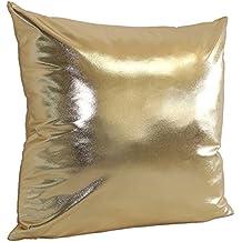 Simple Sólido cojín,: 45cm * 45cm Throw Funda De Almohada Caso Sofá Decoración del hogar, dorado, 45 cm