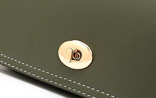Studente semplice borsa estiva selvatica, versione coreana di borsa a tracolla, zaino obliqua, borse a catena ( Colore : Marrone ) Nero