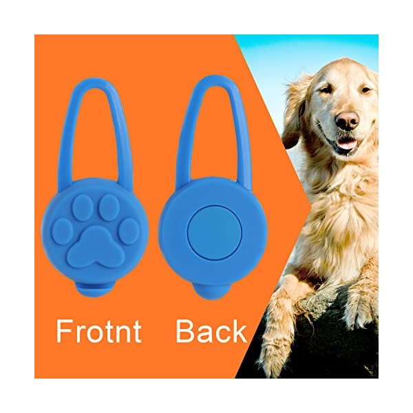 Top Munster Flashing SpotLit Cat / dog Collar Light,LED Pet Safety Light Luminous Pendant for Outdoor Safety (2 Pcs Red + Blue) 3