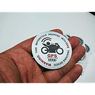 auto-badges X2 Motorcycle alarm sticker high tack vinyl decal adhesive print gps tracking decal