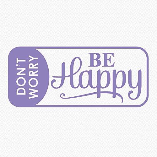 'No te preocupes, sé feliz', calcomanías hogar