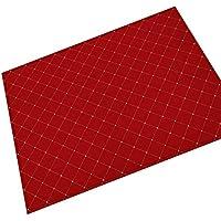 iJIAHOMIE Estera de Puerta, Soporte Antideslizante, Interior/Exterior,Rejilla roja, 80x120cm.