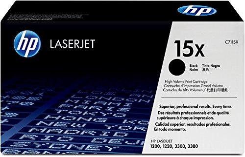 HP 15X (C7115X) Schwarz Original Toner mit hoher Reichweite für HP Laserjet...