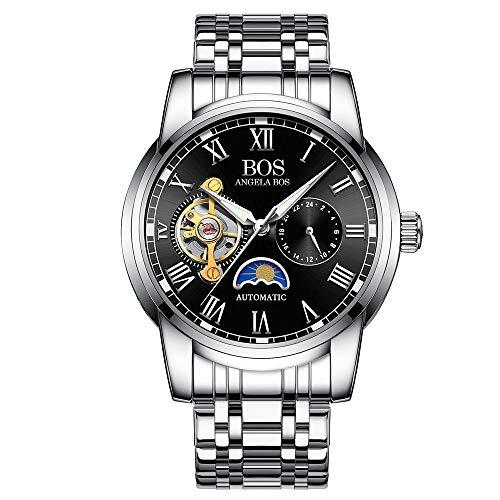 Uhr Automatische Mechanische Uhr Mode Einfach Klassisch Lässig Multifunktions Hohl C