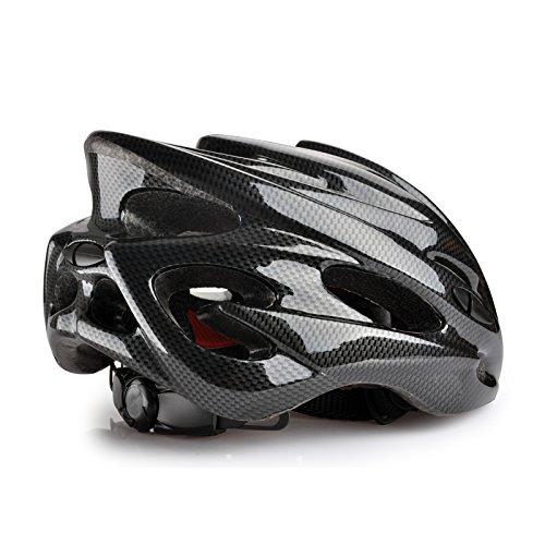 Fahrrad MTB Rennrad carbon look Adult Unisex Herren Helm in schwarz, Größe 52-63cm