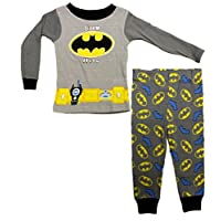 DC Comics Baby Boys Batman Born Hero Long Sleeve Pajama Set - 18 Months Grey