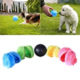 Womdee Pet Magic Ball, Automatic Rolling Ball Electric Cleaner - Mini Spazzare Robot Aspirapolvere Interactive Cat Toy (1 Rolling Ball 4 Color Ball Cover)