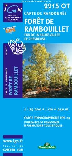 Top25 2215OT ~ Foret de Rambouillet carte de randonnée avec une règle graduée gratuite