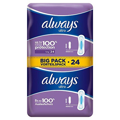 Always Ultra Long Binden, Größe:2, 1er Pack (1 x 24Stück)
