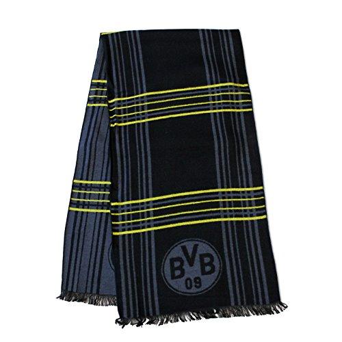 BVB Herren Schal Exklusiv, schwarz/grau, One Size, 2466295