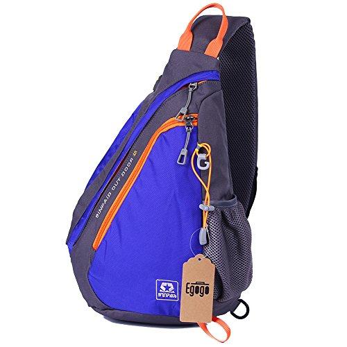EGOGO Multifunktions Sling Pack Rucksack Cross Body Umhängetasche Schultertasche Fahrradrucksäcke Heiß Blau