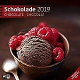 Schokolade 2019, Wandkalender / Broschürenkalender im Hochformat (aufgeklappt 30x60 cm) - Geschenk-Kalender mit Monatskalendarium zum Eintragen