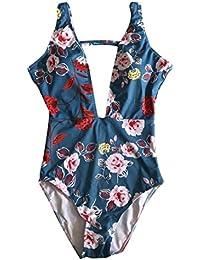 DRESS_start Traje De BañO De Una Pieza Floral Sexy Traje De BañO Bikini Mujeres Floral,