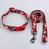 #9: Pets Empire Dog Leash Collar Set Lead Adjustable Pet Collar Strong Nylon Dog Handle Leash Durable Safe Pets Rope/Strap For Walking Training Running Size :Medium For Medium Dogs -1 Piece Color and Pattern May Vary