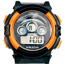 Surya Sporty Look Digital Black Dial watch for Kids in Orange Color -SS02