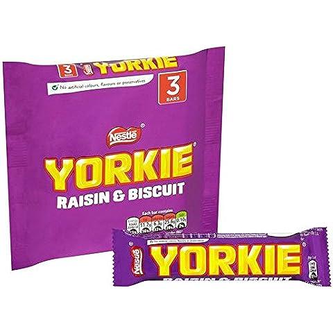 Nestle Yorkie con pasas de uva y Galletas 3 x 44g