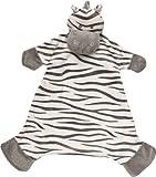Suki Baby 'Zooma Zebra' 10043 -  Copertina Neonati di Peluche 'Zooma Zebra' con Dettagli Ricamati, 43.8 cm, Stampa Zebra in Grigio e Bianco