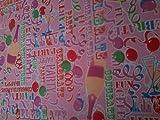Pink Party Celebration Vinyl PVC Küche Tisch