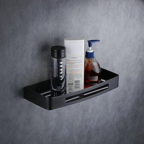 Beelee BA9287B SUS304 Edelstahl Badezimmer Dusche Caddy rechteckig Tabletts für WC Küche Bad Hardware mit Größe 30 x 12,8 x 4 cm schwarz Gemälde Wc-caddy
