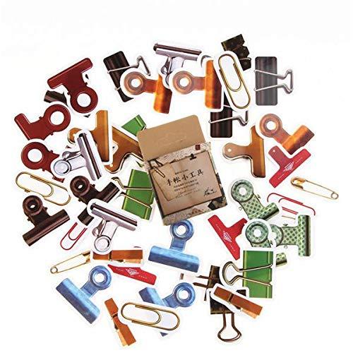 yunkanda 45 Teile / Paket Kräuterpflanzen Dekorative Aufkleber Scrapbooking Stick Label Tagebuch Schreibwaren Album Bullet Journal Aufkleber
