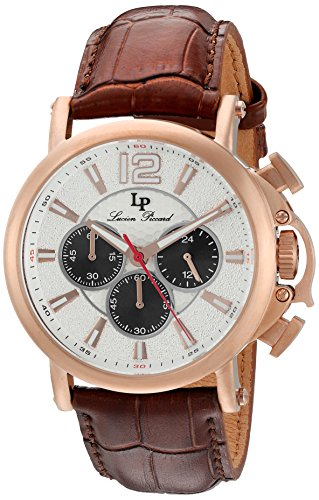 Lucien Piccard Men's Analogue Quartz Watch with Leather Strap LP-40018C-RG-02S