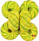 #2: Vardhman Baby Soft Wool, (Multi Green) (Pack of 6)