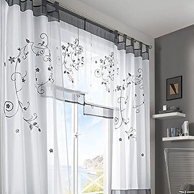 Fastar cortinas salon modernas cortinas pastorales de bordado para dormitorio, sala de estar, sala de estudio