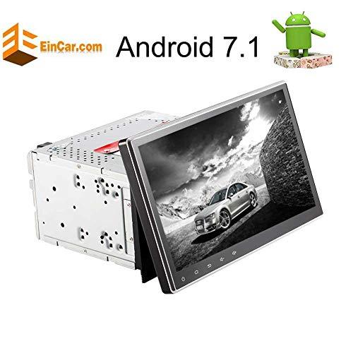 EINCAR 10,1 Zoll Multi-Touch-Screen-Quad-Core-Doppel-DIN-Android 7.1 Nougat Car Stereo in Schlag-DVD-CD-Player Bluetooth Autoradio Unterstützung GPS Naigation WiFi USB-Sd FM AM RDS Radio-Split-Sc Touch-screen-core