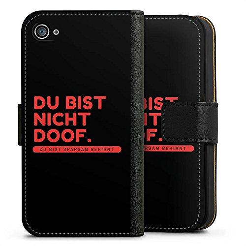 Apple iPhone X Silikon Hülle Case Schutzhülle Doof Sprüche Lustig Sideflip Tasche schwarz