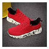 YAYADI Schuhe Herren Sneakers Camouflage Mens Schuhe Casual Atmungsaktiv Männer Schuhe Qualität Gewebte Outdoor Schuhe Jogging Fitness Schuhe Leicht Rot, 9,5