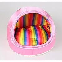 Stile pantofola Nylon Pet House interna removibile e lavabile durevole morbida cuccia gatto casa , powder , l