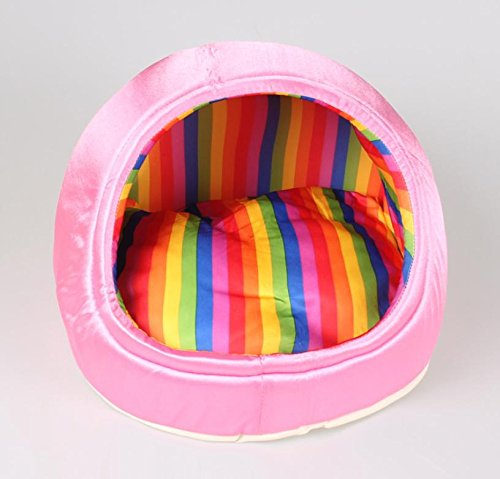 Stile pantofola Nylon Pet House interna removibile e lavabile durevole morbida cuccia gatto casa , powder , s