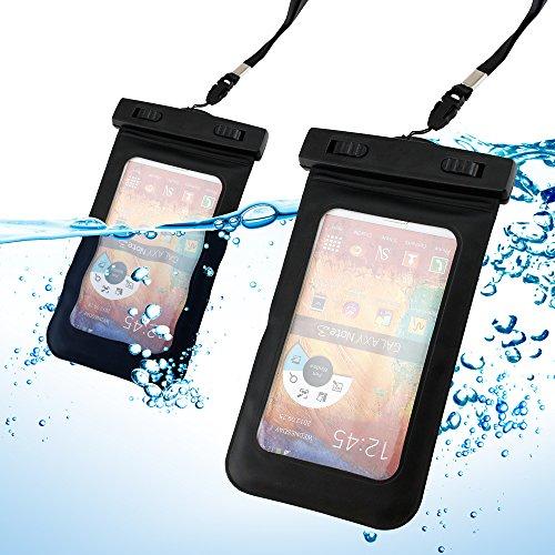 Gearonic TM Noir Pochette étanche Protection d'écran Housse Etui peau W/bande de bras pour iPhone 5/5S/5C/Samsung Galaxy S4S5Note 2Note 3
