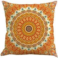 """Almohada Funda De Cojín (45x 45cm ronamick Geometría Pintura Pillow Cover Lino almohada decorativa Cojín caso sofá funda de almohada Home Decor, a, 45cmX45cm / 18X18 """""""
