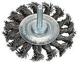 BOSCH Scheibenbürste, Stahl, gezopfter Draht, 0,5 mm, 75 mm, 13 mm, 4500 U/ min, 2608622113
