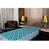 Jaipuri Bedsheets 120 TC 100% Cotton Multicolor Printed 1 Single Bedsheet Without Pillow Cover
