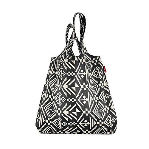 reisenthel Mini Maxi Shopper hopi 15 Liter Einkaufsbeutel Faltbeutel, Plastik, Black, 43 x 7 cm