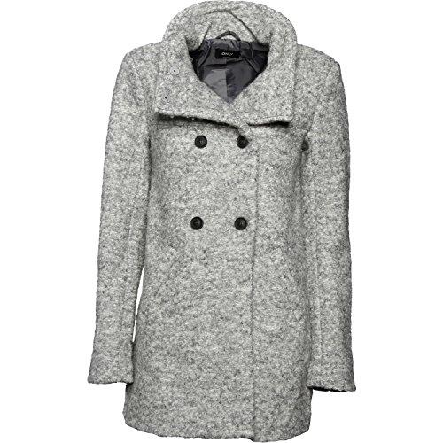 ONLY Damen Mantel Onlsophia Noma Wool Coat CC Otw Noos, Grau (Light Grey Melange), 36 (Herstellergröße: S)