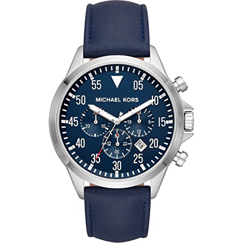 Michael Kors Mens Chronograph Quartz Watch with Leather Strap MK8617