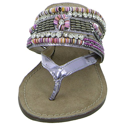 Lazamani 11,038 Damen Pantolette bis 30mm Absatz Grau (Silber)