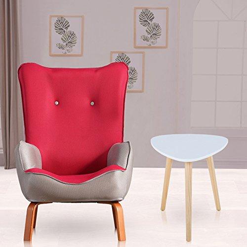 DEO Bureau d'ordinateur Enfants enfants avec chaise en tissu fauteuil canapé siège tabouret durable (Couleur : Rouge, taille : Chair and table)