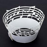 Wrone taglio (TM) Laser delicato intagliato Note di musica bign¨¦ torta Coppa cappello a cilindro per la festa di compleanno di nozze banchetto Decorazione 50pcs