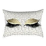 NEEKY Série oeil Housse de Coussin Velours Cils Doux Taies d'oreiller Coussin Decoration Canapé