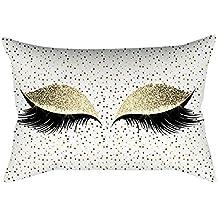 Suave Gránulos Decorativo Cuadrado Funda de Almohada Cojín para sofá Dormitorio Coche, Funda de cojín