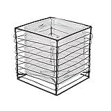 modernen Stil Glas Cube Blumentopf mit Industrie-Stil Drahtgitter Rahmen–Außergewöhnliche modernes Pflanzgefäß ideal für Innen und Außenbereich Pflanzen, ein fantastisches mittel, um sowohl und künstliche Blumen in the home–Bezaubernde Geschenkidee für Hochzeit, Jahrestag oder Einzugs