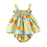 Baby Kleinkinder Baby Mädchen Kleidung, Sommer-Outfits Mingfa niedliche Lemon-Kleid mit Spitze Shorts für 6–24Monate, 18M, mintgrün, 1