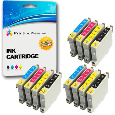 12 Druckerpatronen für Epson Stylus C64, C66, C66 Photo Edition, C68, C84, C84N, C84WN, C86, CX3600, CX3650, CX4600, CX6400, CX6600   kompatibel zu Epson T0441, T0442, T0443, T0444 (T0445) - Epson Toner Refill -