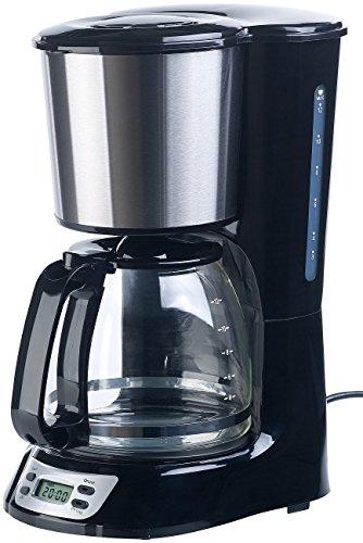 Rosenstein & Söhne Filterkaffeemaschine: Programmierbare Kaffeemaschine für bis zu 12 Tassen, Timer, 1.000 Watt (Kaffeemaschine für Filterkaffee)