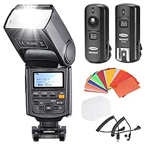Neewer NW685N i-TTL *High Speed Sync* 1/8000s HSS LCD Display Speedlite Flash Kit for Nikon D80 D90 D800 D700 D7100 D7000 D5200 D5100 D5000 D300 D300S D3200 D3100 D3000 D200 D70S DSLR Cameras, includes: (1)Neewer NW685N Flash + (1)3 in 1 2.4Ghz Wireless Flash Trigger + (1)35-piece Color Gel Filters + (1)Deluxe Flash Case + (2)Cables(N1-Cord + N3-Cord)